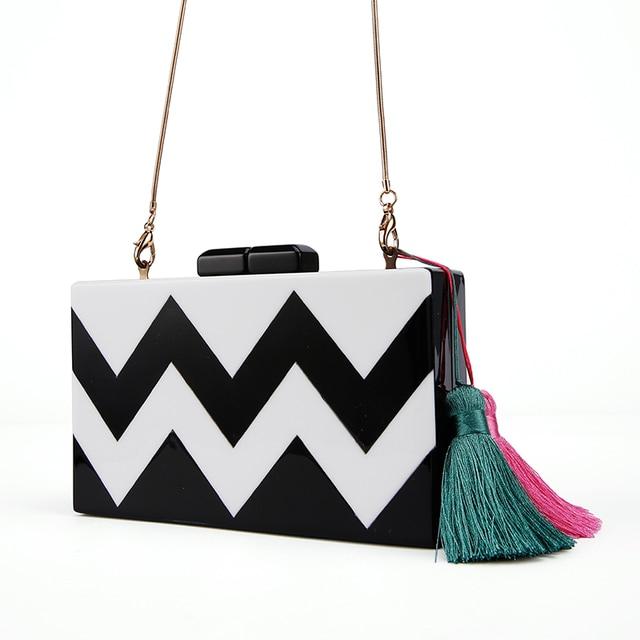 28c8946205aa Wholesale China Aliexpress Acrylic Stripe Clutch Bag Bridal Ladies Evening  Bag Pearl Color Nice Envelope Handbag Acrylic Clutch