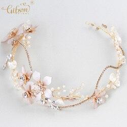 Vogue Bridal Headbands Enchanted Floral Crystal Wedding Hair Vine Rhinestone Chain  Women Anniversary Headpiece