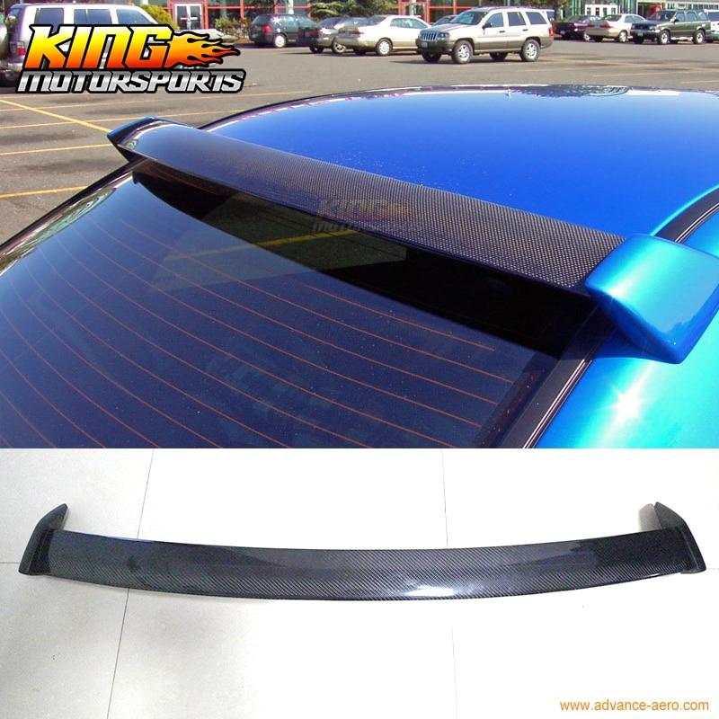 2002 2007 Carbon Fiber Roof Spoiler Wing W/FRP For Subaru Impreza WRX 4Dr  New
