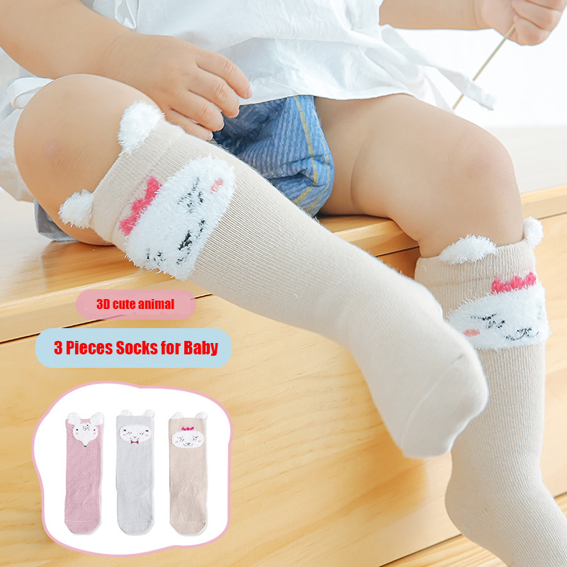 Knee High Socks For Baby Kid Girls Boys Toddler Socks Leg Cute Animals Cotton Socks Baby Girl 6 Month To 3 Years Old