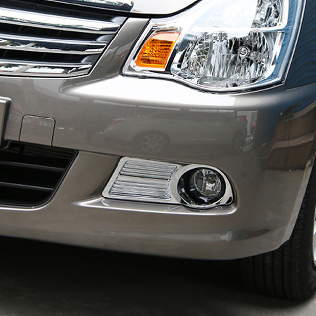Free Shipping High Quality ABS Chrome Front Fog lamps cover Trim Fog lamp shade Trim For Nissan Sylphy Almera G15