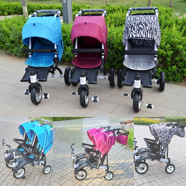 KEER crianças bebê triciclo Multifuncional único gêmeos bicicleta sit lie empurrão passeio de triciclo do bebê 3 cores 0 ~ 6 anos