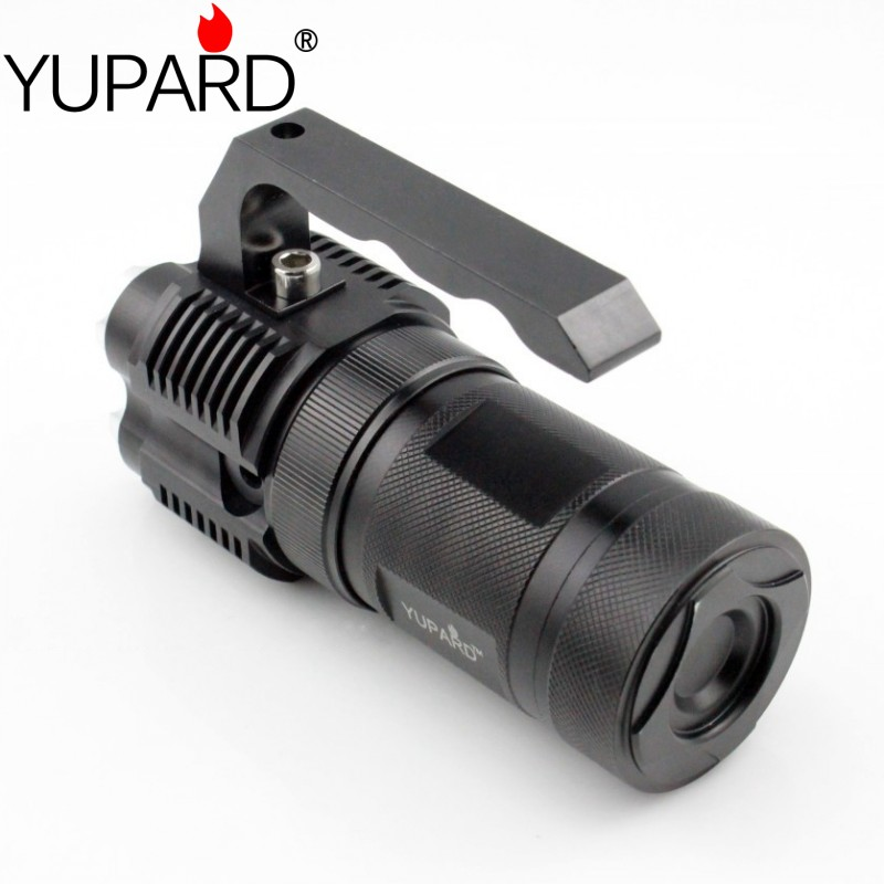 yupard high bright portable light lantern 4*XM-L T6 LED flashlight spotlight 18650 rechargeable battery torch searchlight portable flashlight torch light led rechargeable searchlight 30w long range bright spotlight for hunting and camp