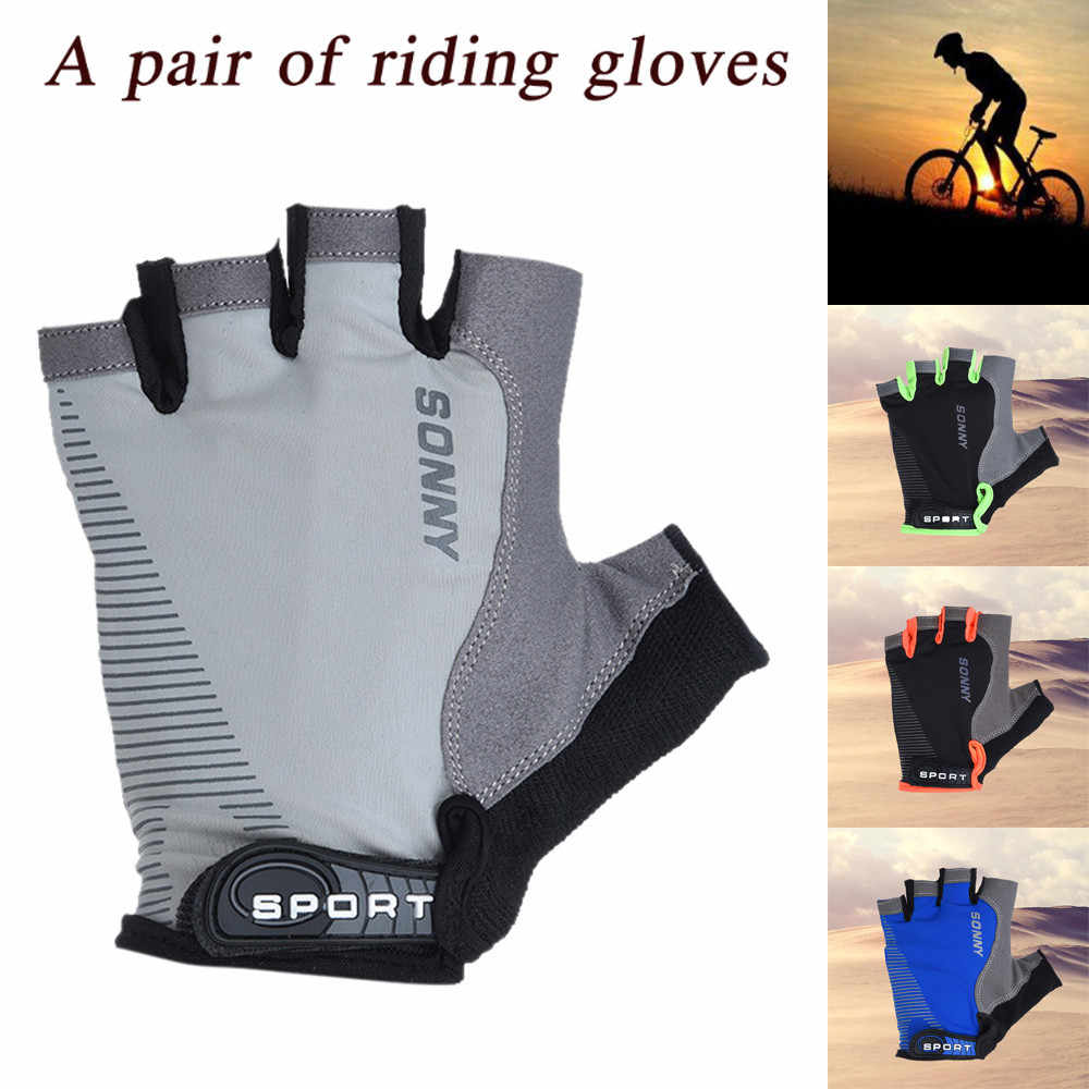 Cycling Gloves Anti-slip Men Women Half Finger Gloves Breathable Summer Sports Gloves GEL MTB Bike Bicycle Gloves Ss