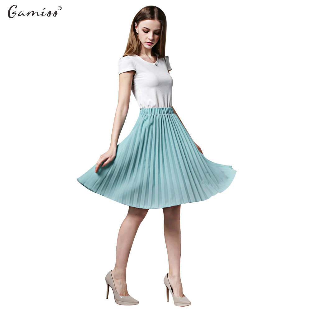 Wedding Plus Size Petticoat online get cheap plus size knee length petticoat aliexpress com gamiss women skirts candy color elastic pleated midi skirt a line skater vintage casual saia petticoat