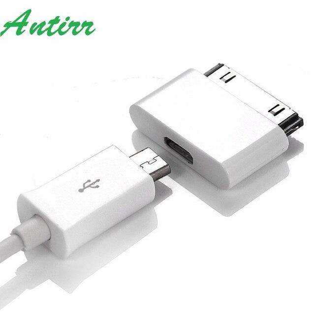 860f3a83e67 Micro USB para 30 Pin Conector do Adaptador USB Conversor Adaptador de Cabo  para iPhone 4