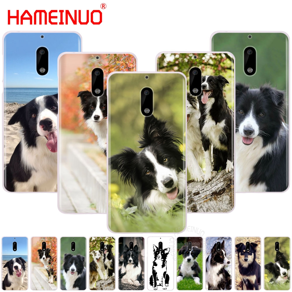 HAMEINUO border collie <font><b>dog</b></font> cover phone <font><b>case</b></font> for <font><b>Nokia</b></font> 9 8 7 6 5 <font><b>3</b></font> Lumia 640 640XL image