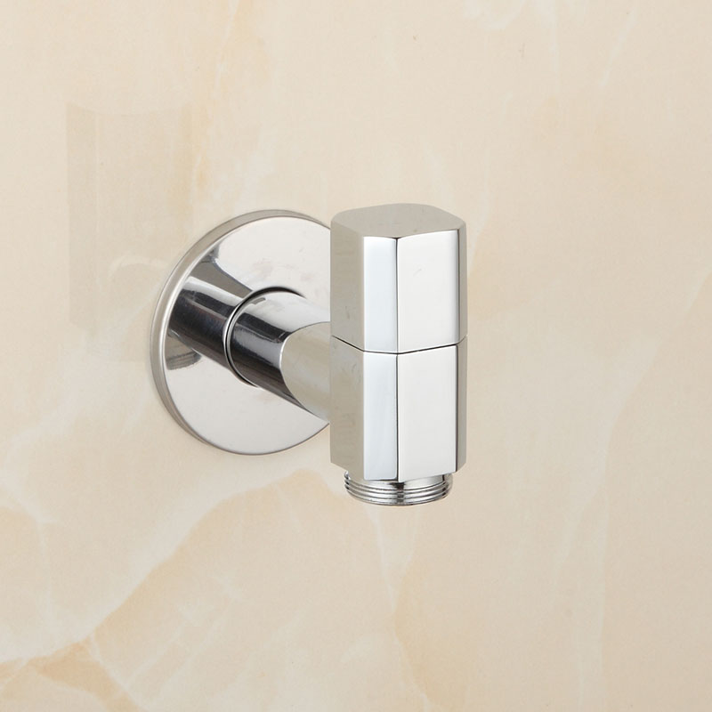 Brass Chrome Garden Faucet Washing Machine Basin Faucets Cold ...