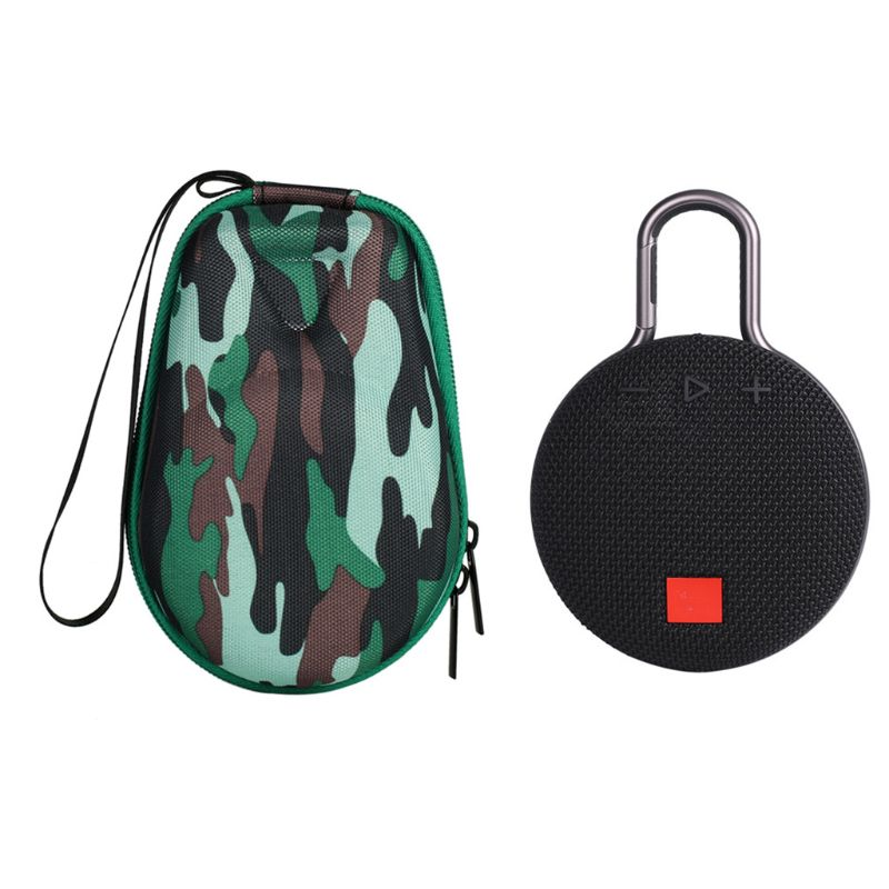 Portable Camouflage Pattern Travel Carry Case Cover Bag For JBL Clip 2 3 Bluetooth Speaker