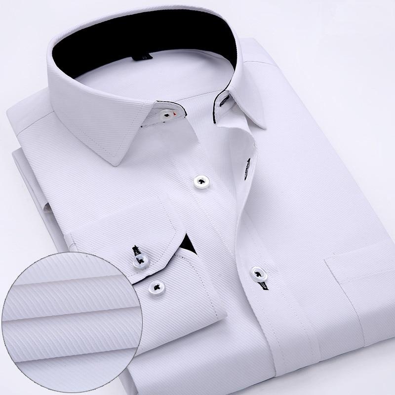 2016 Lelaki Formal Dress Shirt Spring New High Quality Cotton Long - Pakaian lelaki - Foto 4