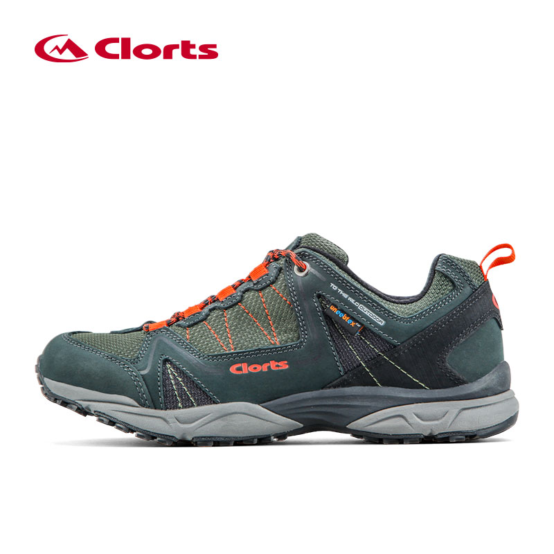 CLORTS Men's Sports Waterproof Outdoor Hiking Trekking Shoes For Men Mesh + Leather Climbing Mountain Shoes Man High Quality clorts men hiking shoes boa lace up outdoor shoes waterproof trekking shoes for men free soldier summer climbing shoes 3d027a