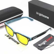 Brightzone Black-blue Mixed Colors Anti-Blue Light Lenses For Deep Sleep & Relaxation Computer Glasses Men Women CE Mark