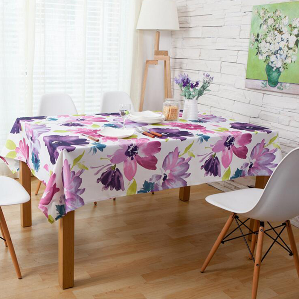 Yazi Pastoral Waterproof Tablecloth Purple Floral Table Cover Elegant Home  Party Wedding Decoration In Tablecloths From Home U0026 Garden On  Aliexpress.com ...