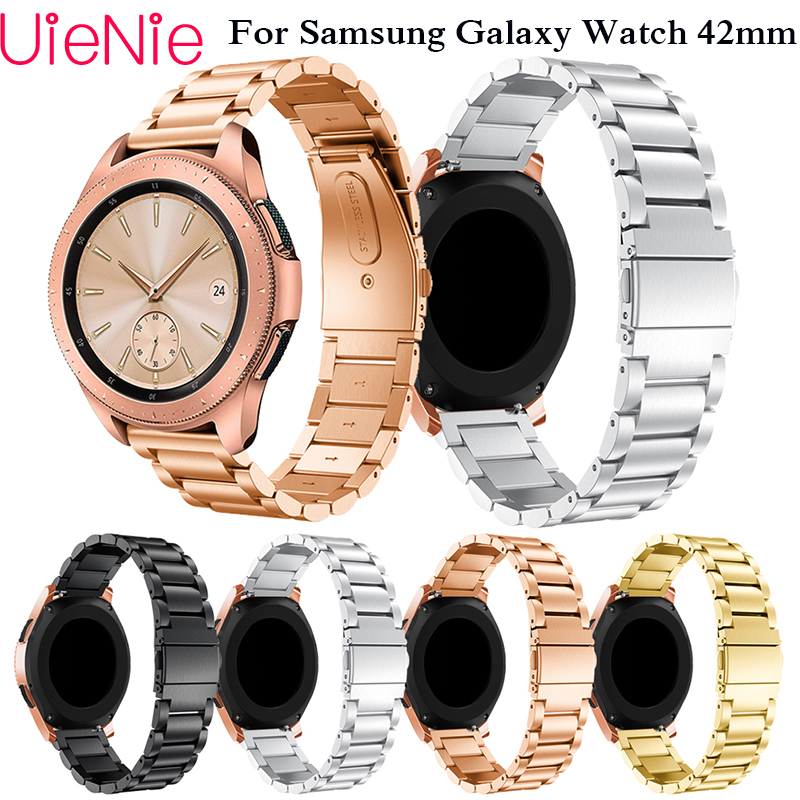 20mm Width Stainless Steel Band for Samsung Gear S2 wristband Galaxy 42mm Watch Strap Metal Wristband strap