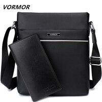 VORMOR известный бренд повседневное мужская сумка, бизнес кожа для мужчин курьерские Сумки Винтаж Плечо Сумка Через для дропшиппинг