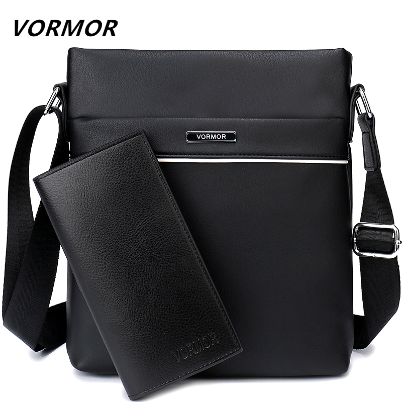 VORMOR Famous Brand Casual Men Bag Business Leather Men Messenger Bags Vintage Shoulder Crossbody Bag For Male DropShipping