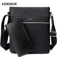VORMOR Famous Brand Casual Men Bag Business Leather Men Messenger Bags