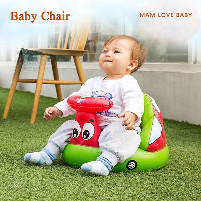 Baby Inflatable Seat Sofa Baby Chair Booster Feeding Portable ...
