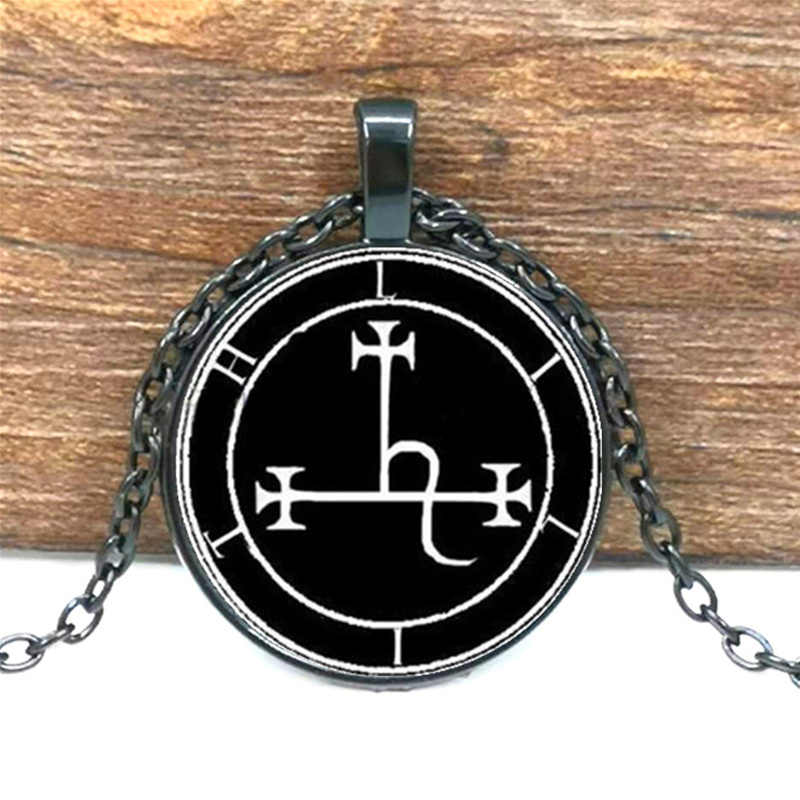 Lilith Sigil COLLAR COLGANTE de sello de cristal foto cabina collar visión 4 colores