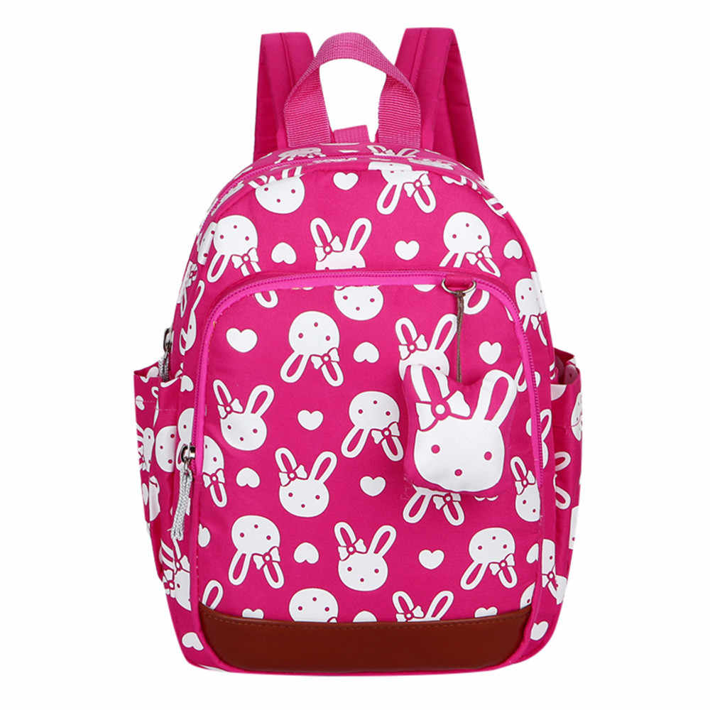 981001a2aa4d xiniu Animal Backpack Toddler School Bag Cute cartoon rabbit animal bag  doublChildren Baby Girls Boys Kids