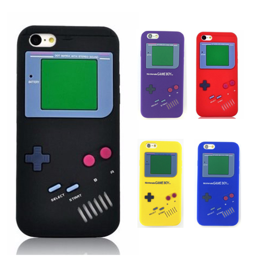 Coque For Apple IPhone 5s SE Case Retro Gameboy 3D Shockproof Back Soft Case For IPhone 8 7 Plus