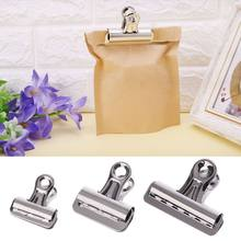 5PCS Metal Bulldog Clips Paper Letter Document Ticket File Binder Grip Clip Clamp Kitchen Food Sealing Bag Clips 25mm 32mm 56mm(China)