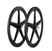2018 MIRACLE 5 spokes Wheel Tubular Carbon Road wheel 700c Track wheel Five Spokes Road/Triathlon/Track/Fixed Gear Bicycle