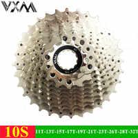 VXM Berg Fahrrad Freilauf 10 Geschwindigkeiten Schwungrad 11-32 T Zähne Kurbelgarnitur Gear MTB Kassette Stahl 10 S schwungrad Fahrradteile