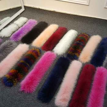 2018*JKP big hair collar hair * 80X20CM* collar hat color down jacket fur collar general Ms. real fur collar фото