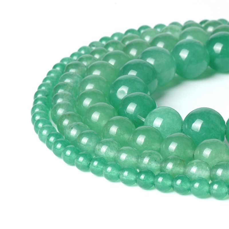 """6//8//10//12mm Luz Natural Azul Jade Redondo Piedra Preciosa Suelta Perlas Strand 15/"""" AAA"""