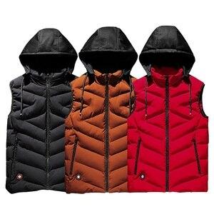 Image 1 - Cotton Vest Men Plus Size Big 6XL 7XL 8XL Large Casual Winter Sleeveless Jacket Male Hooded Thick Warm Parka Jacket Waistcoat