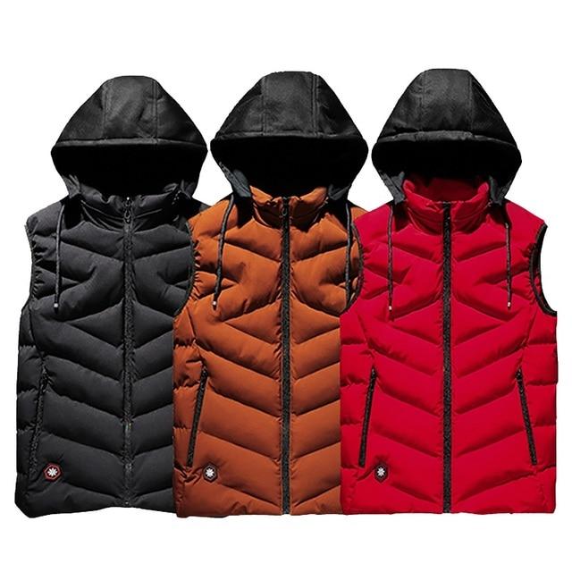 Cotton Vest Men Plus Size Big 6XL 7XL 8XL Large Casual Winter Sleeveless Jacket Male Hooded Thick Warm Parka Jacket Waistcoat