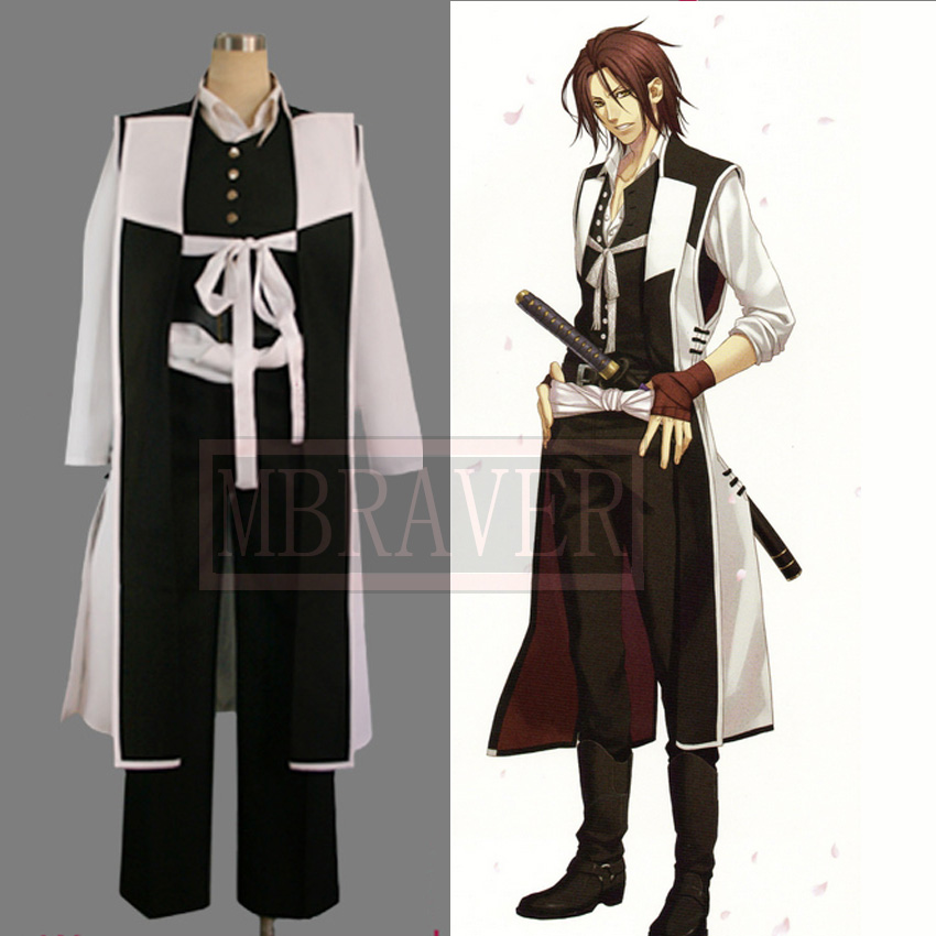 Custom-made Hakuouki cosplay Harada Sanosuke Cosplay halloween cosumes