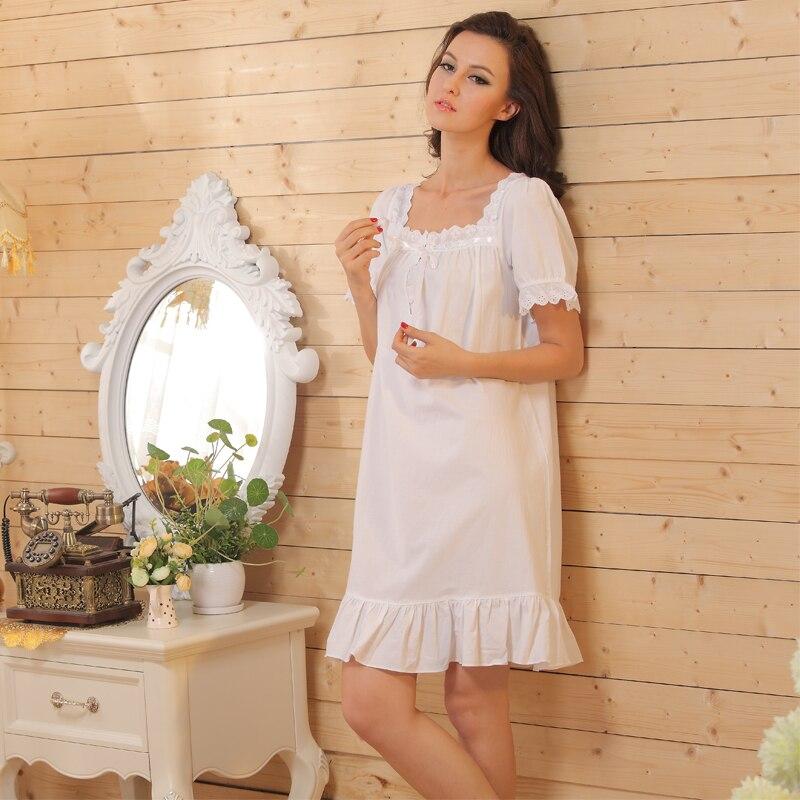 7cc316b942a68c Krótki rękaw krótki koszule nocne damskie koszule nocne piżamy lato  przycisk Up koszula koszula nocna