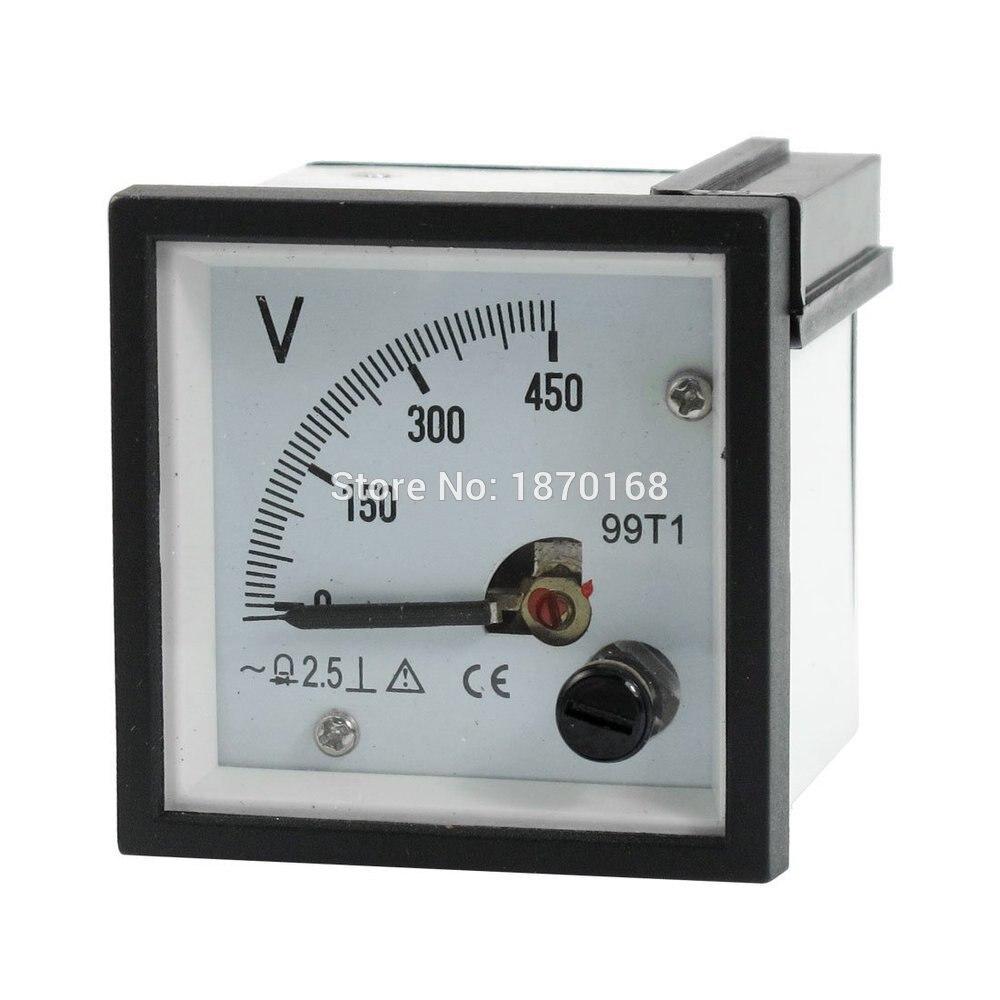 99T1 AC 0-250 V 300 V 450 V тонкая настройка набора Панель аналоговый Напряжение вольтметр белый Black48MM