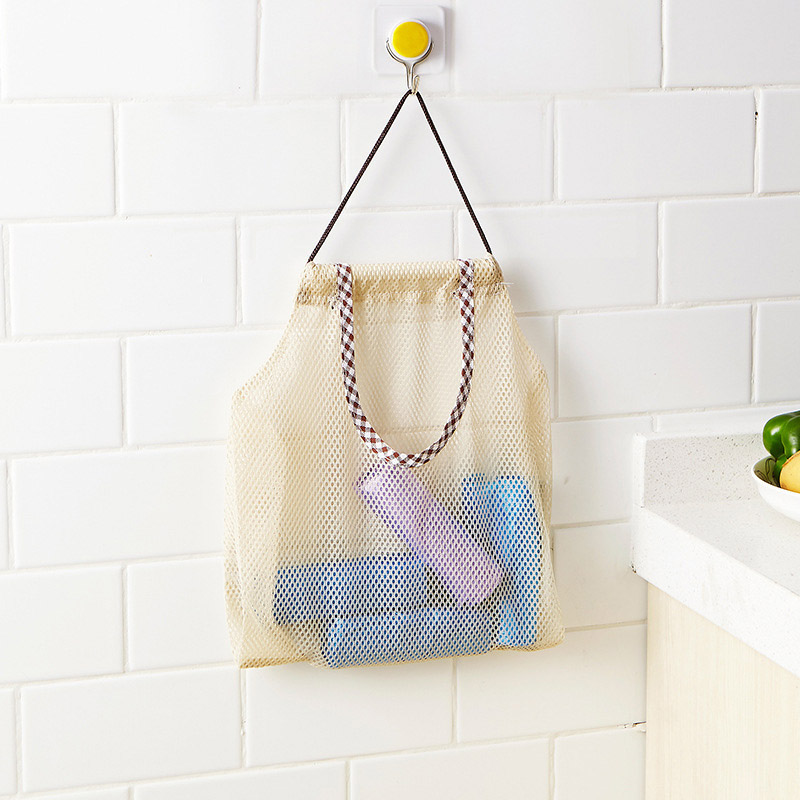 Image 3 - Reusable Grocery Produce Bags Cotton Mesh Ecology Market String Net Shopping Tote Bag Kitchen Fruits Vegetables Hanging Bag-in Bags & Baskets from Home & Garden