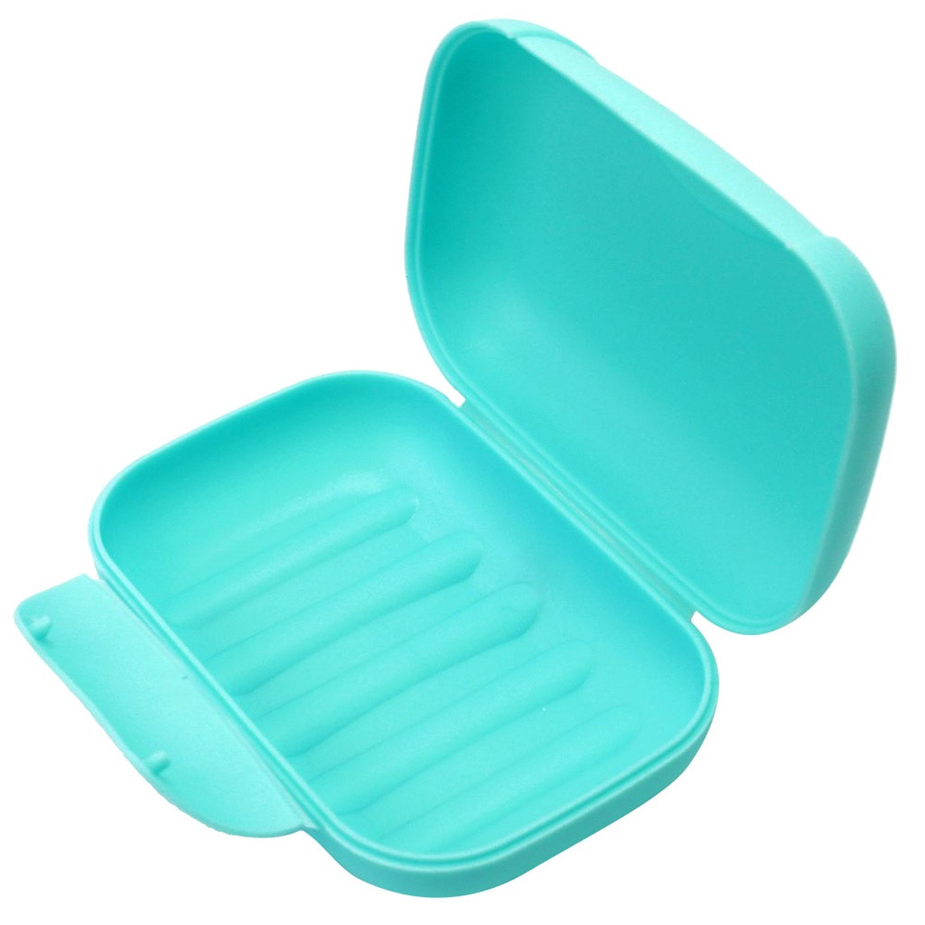 Soap Box Mini Travel Holder Bathroom Dish Shower Portable Case Container Tray .