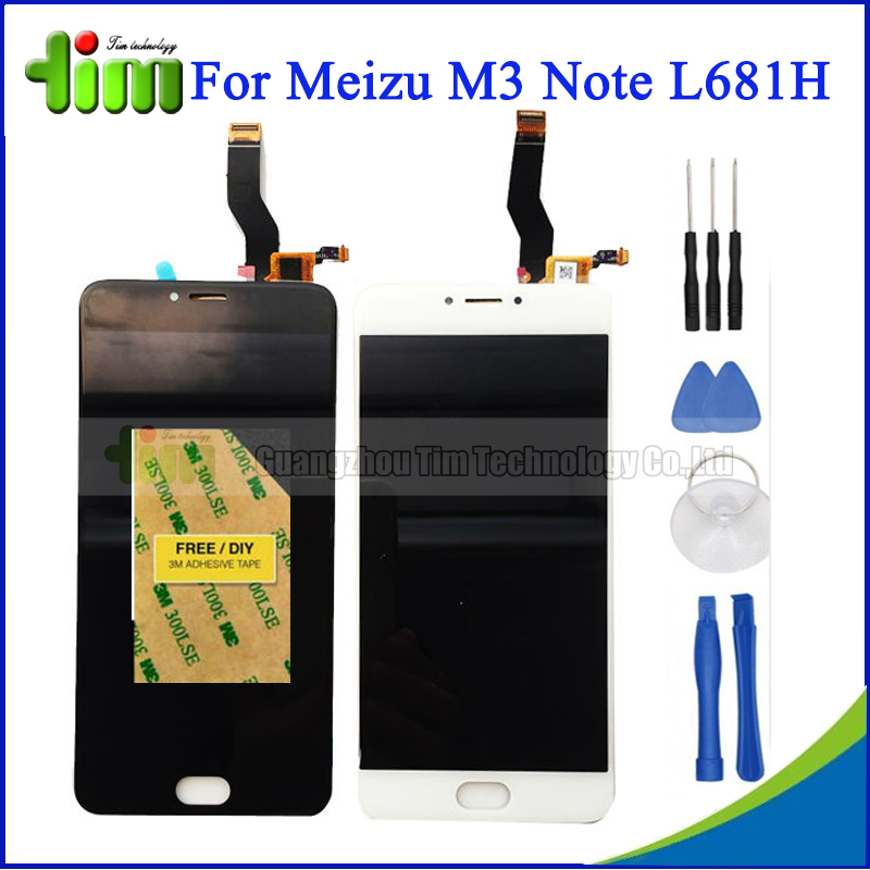 ФОТО For Meizu M3 Note L681H LCD Display+Digitizer Touch Screen Replacement Accessories White Black for Meizu Meilan Note 3 +Tool