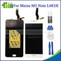 Para meizu m3 note l681h acessórios branco preto display lcd + digitador do toque de substituição da tela para meizu meilan note 3 + ferramenta