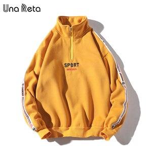 Image 3 - Una Reta Men Hoodies New Hip Hop Zipper Design Sweatshirt Embroidery high quality Streetwear Cotton Retro Pullover Tracksuit Men