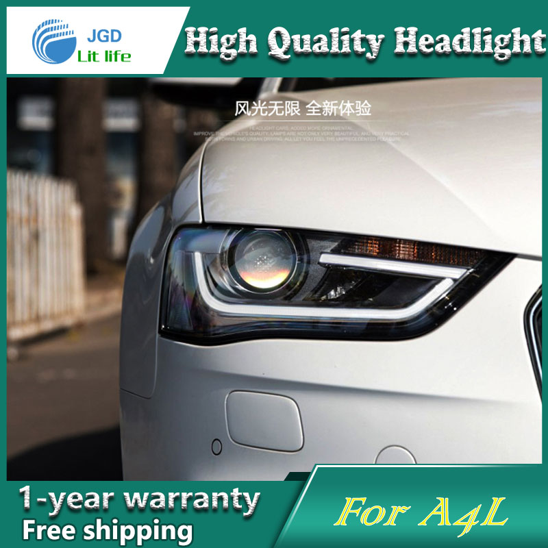 Car Styling Head Lamp case for Audi A4L 2013-2016 Headlights LED Headlight DRL Lens Double Beam Bi-Xenon HID car Accessories car styling head lamp case for ford ecosport 2013 headlights led headlight drl lens double beam bi xenon hid car accessories