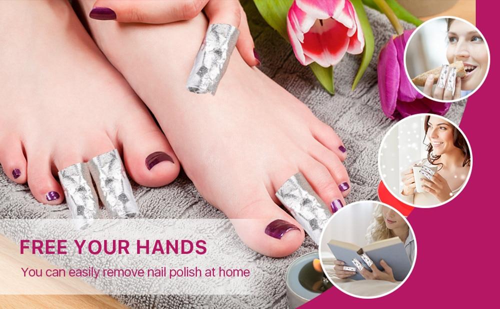 Wraps Unhas Perfeito para Em- casa de Unhas de Gel Manicure F0347X