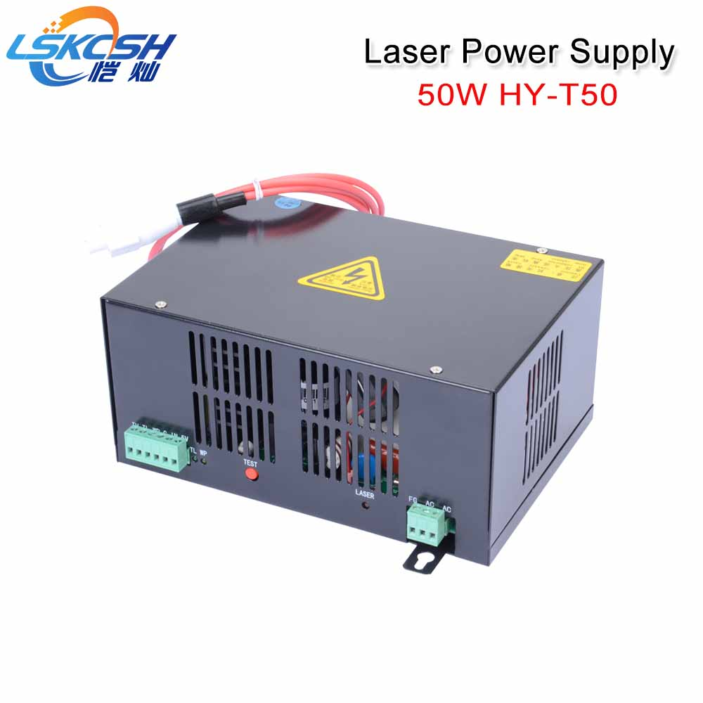 LSKCSH 50W CO2 laser power supply HY-T50 220V for laser tube 50W 1000mm length for Co2 Laser Engraving Cutting machines