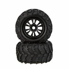 Eboyu ™ 2 unids rc monster 1/8 llanta y neumático de coche 810006 para traxxas hsp tamiya hpi kyosho rc coche