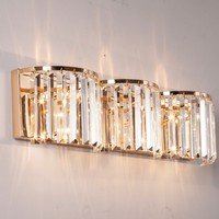 Long K9 Crystal Wall Lamp for Hotel Guest room large Led Wall Light for Living Room large modern crystal Wall sconce Wandlamp