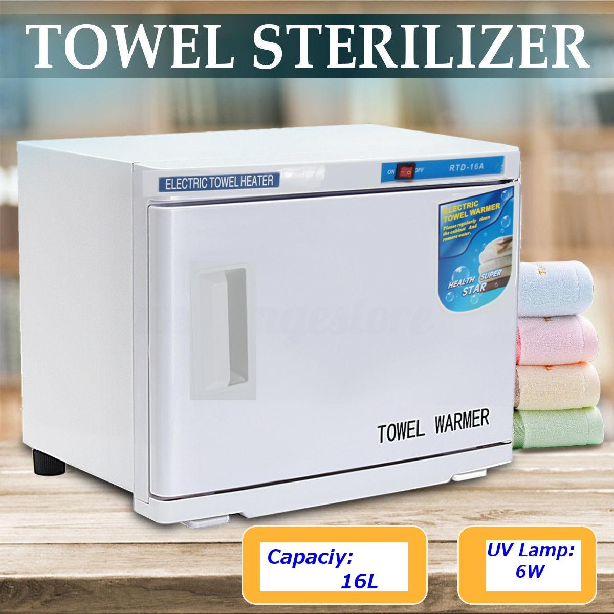 1PCS Electric Towel Warmer Towel Disinfection Cabinet UV Light Sterilizer Facial Salon Spa Towel Machine Hot Towel Cabinet 16L