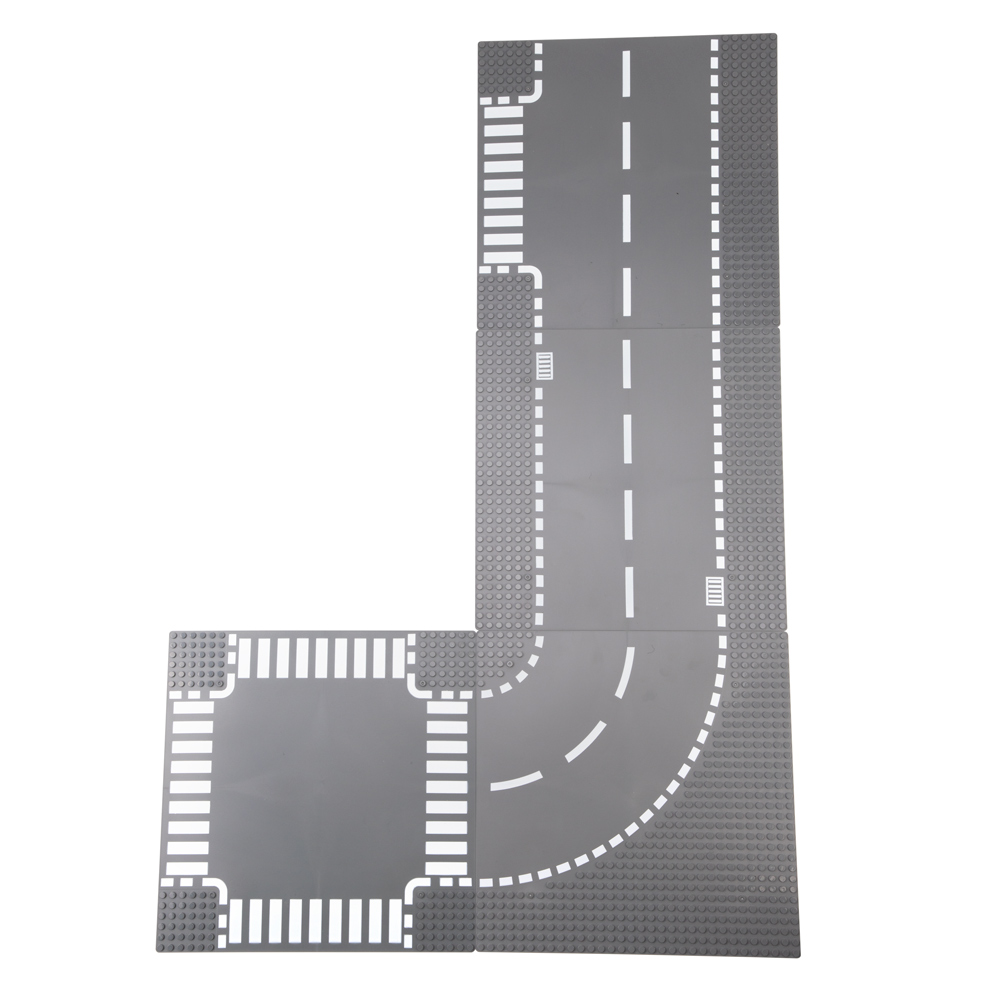 Image 4 - TUKATO Road Baseplate Straight Crossroad Street view road Baseplate Building Blocks Parts Bricks Compatible Legoe toys foy kids-in Blocks from Toys & Hobbies