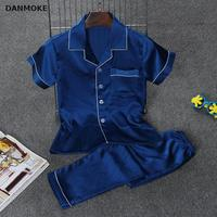 Damoke Baby Boy Pajamas Sets Brand Silk Infant Clothes Boys Summer Sleepwear 3 7Y