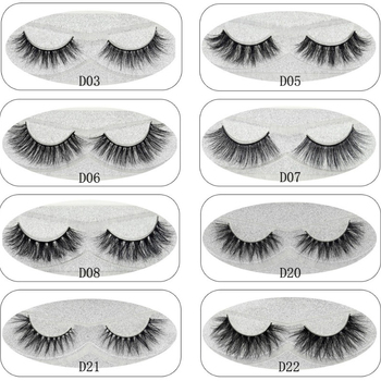 Lash Mink Eyelashes 3D Mink Hair Lashes Wholesale 100% Real Mink Fur Handmade Crossing Lashes Thick Lash 11 Styles New 1Pair