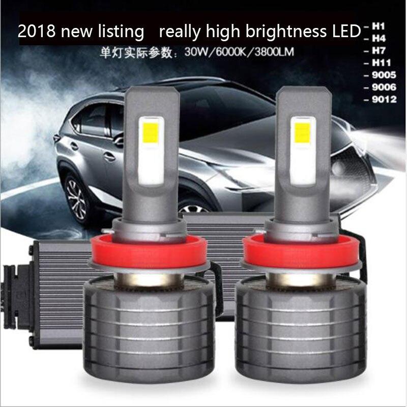 SUNYDEAL LED Headlight Car Accessories LED Fog Light 9600LM Hi/Lo Beam H4 H1 H7 Auto Led Head light Car Lamps Mini8 COB Bulbs - 3